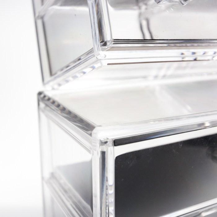 Tabletop Mini Cosmetic 4 Drawers Organizer Velvet