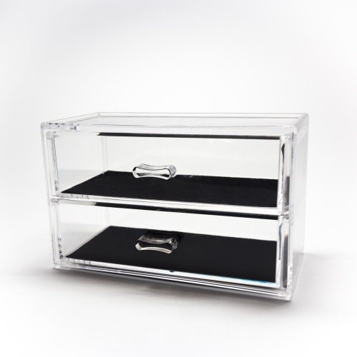 Tabletop Mini Cosmetic 2 Drawers Organizer