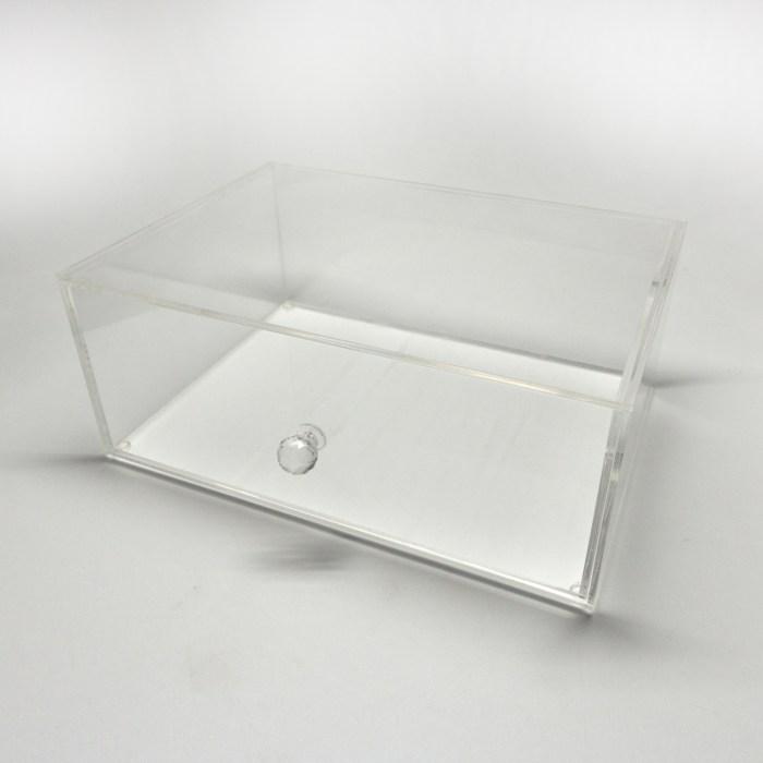 Transparent Acrylic Makepup Organizer with Diamond Holder