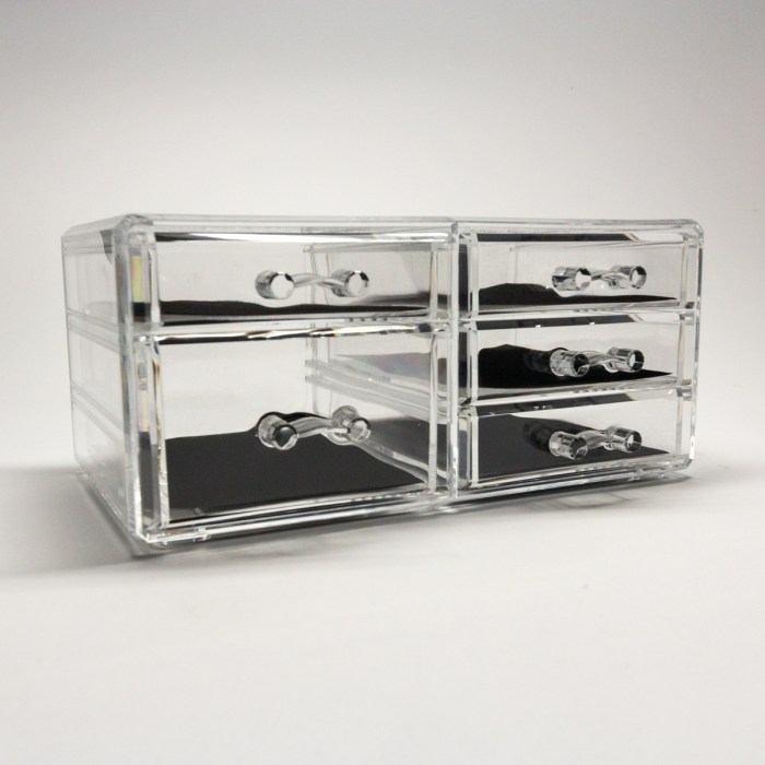 Transparent Multipurpose Storage Box With 5 Drawers