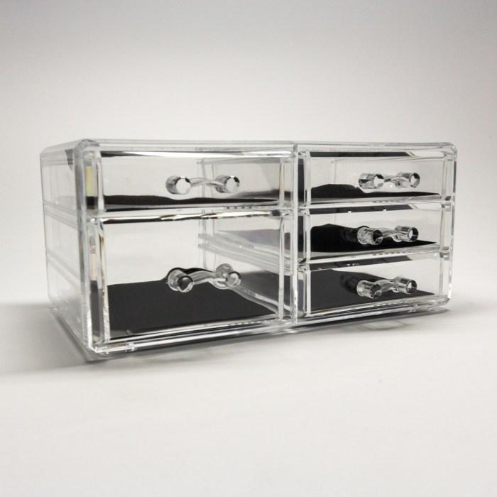 Transparent Multipurpose Storage Box With 5 Drawers