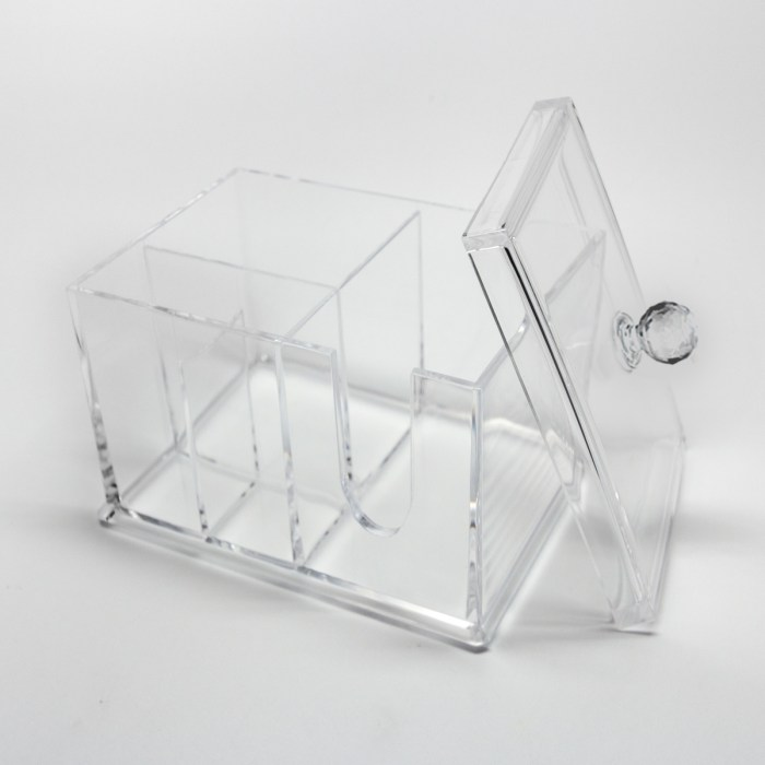 Acrylic Cotton Pad with Lid