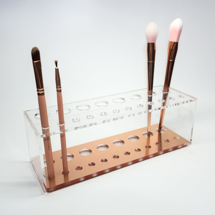 Rose Gold Acrylic Brush Display & Organizer