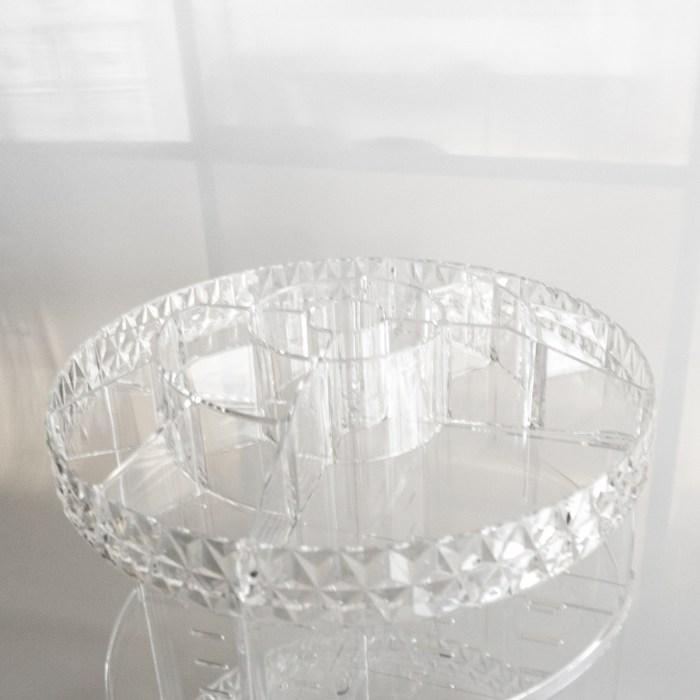 360 Degree Rotating Multi Acrylic Organizer with Clear Diamond Side