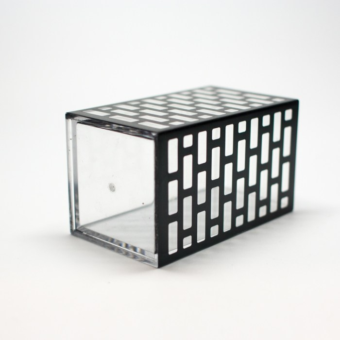 Acrylic Bathroom Cup Organizer Black Block