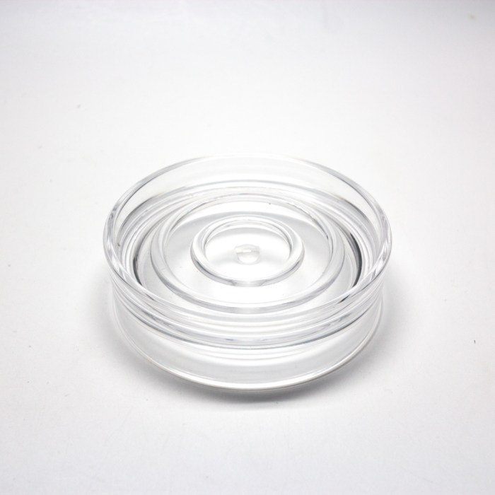 Smooth Cylindrical Series Soap Holder Clear