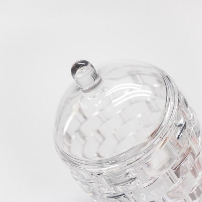 Bricks Creative Bathroom Jar With lid Clear