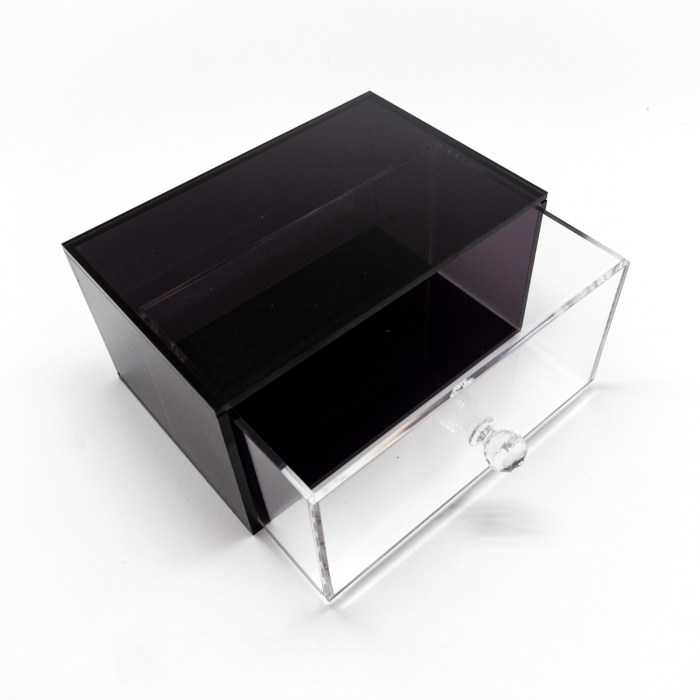Hand-made Single Drawer Organizer Black