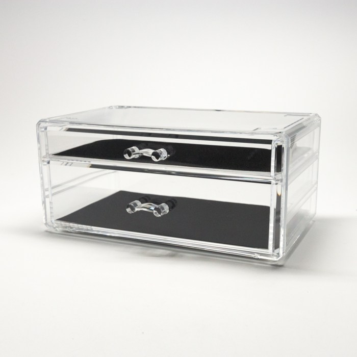 Transparent Multipurpose Storage Box With 2 Wide Drawers