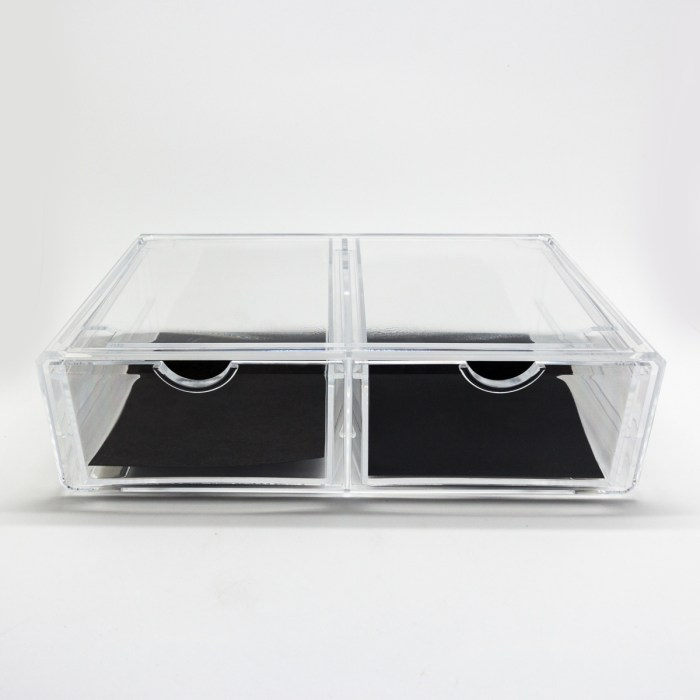 Simple Clear Acrylic Two Drawers Organizer