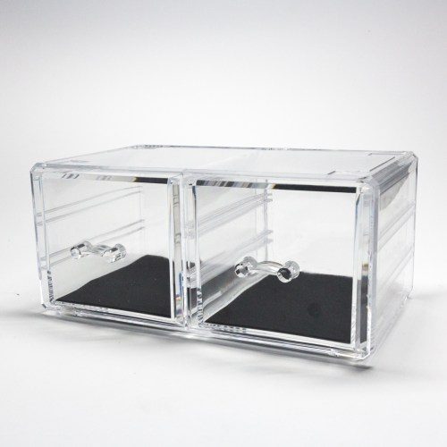 Transparent Multipurpose Storage Box With 2 Drawers
