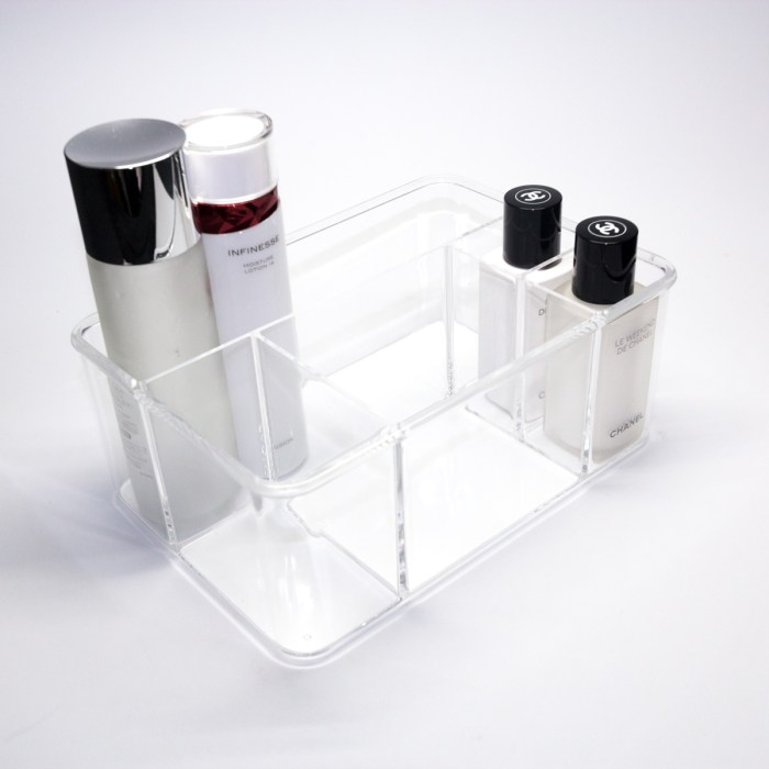 Acrylic 5 Partition Organizer Basket