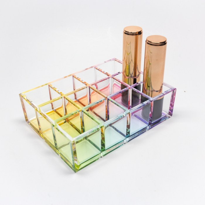 12 Partitions Makeup Lips Organiser Holder