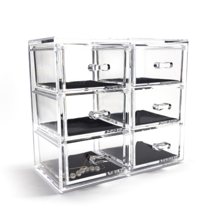 Tabletop Mini Cosmetic 6 Drawers Organizer Velvet