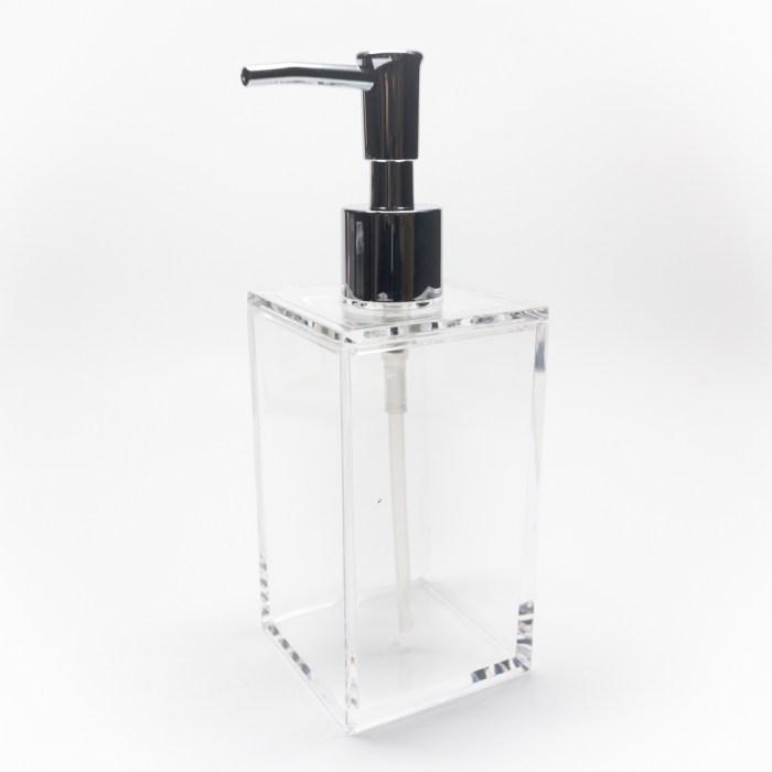 Rectangle Accessories Bath Shower Dispenser Clear