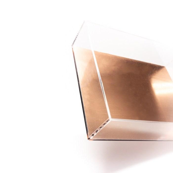 Acrylic Rectangle Tray Rose Gold