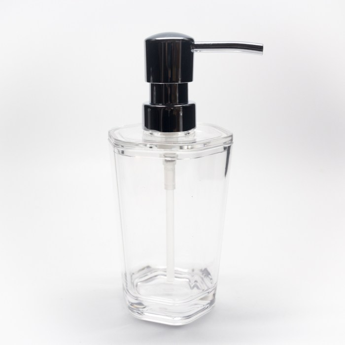 Hexagonal Shapes Lotion Clear Dispenser Clear