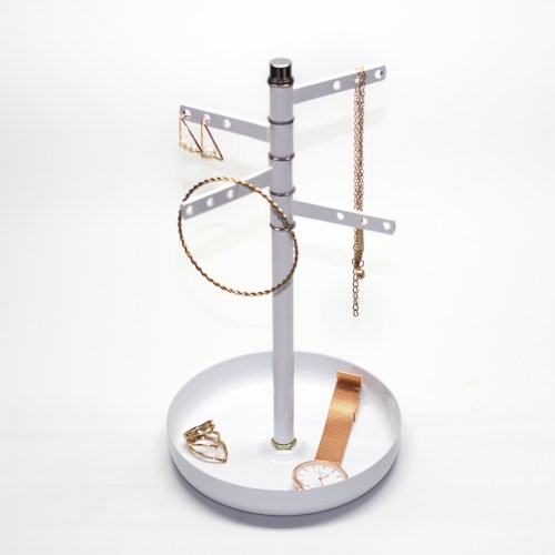 Rotating coating jewelry display tray