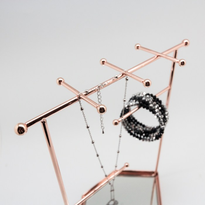 Rose Gold Accessory Rings Display Stand