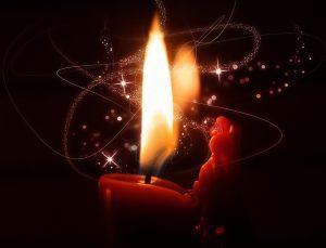 Stearinlys fra pixabay