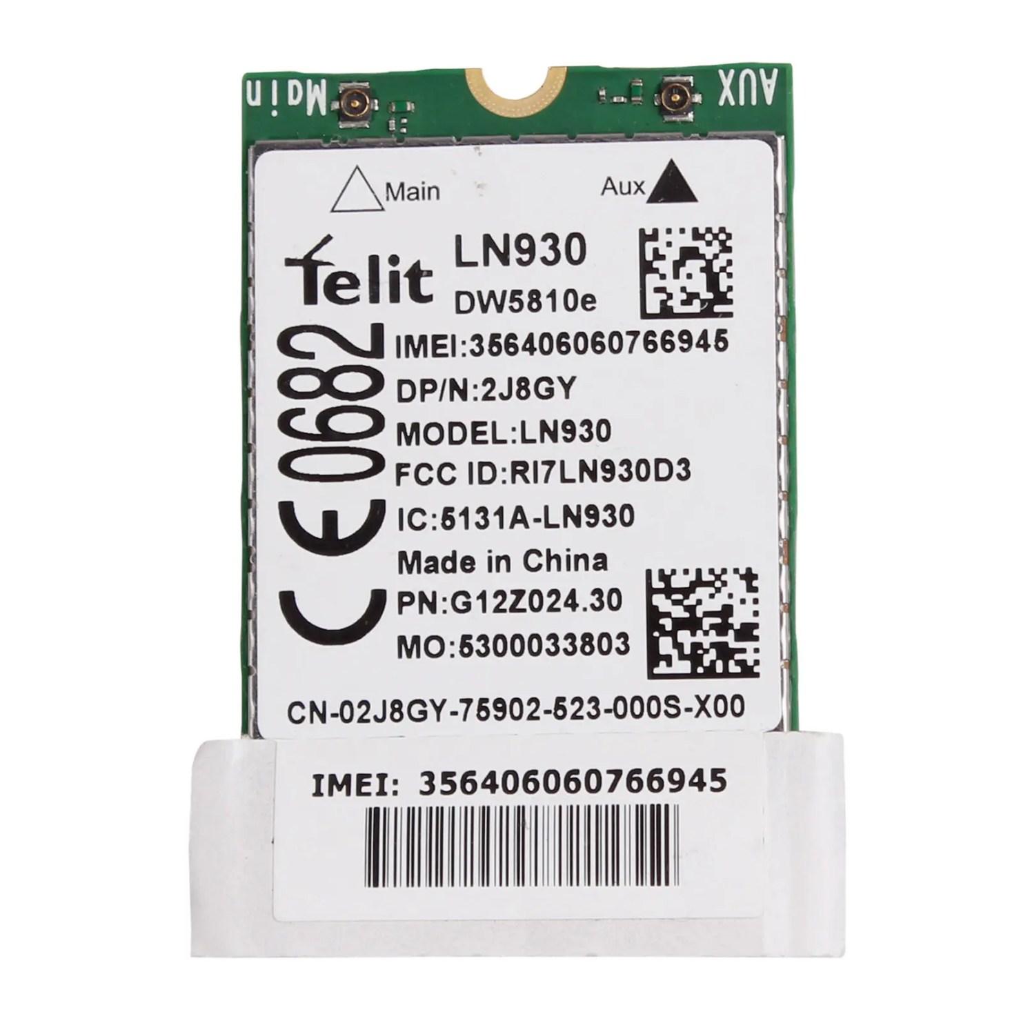 DELL 4G WWAN Card DW5810E 2J8GY 5X80D