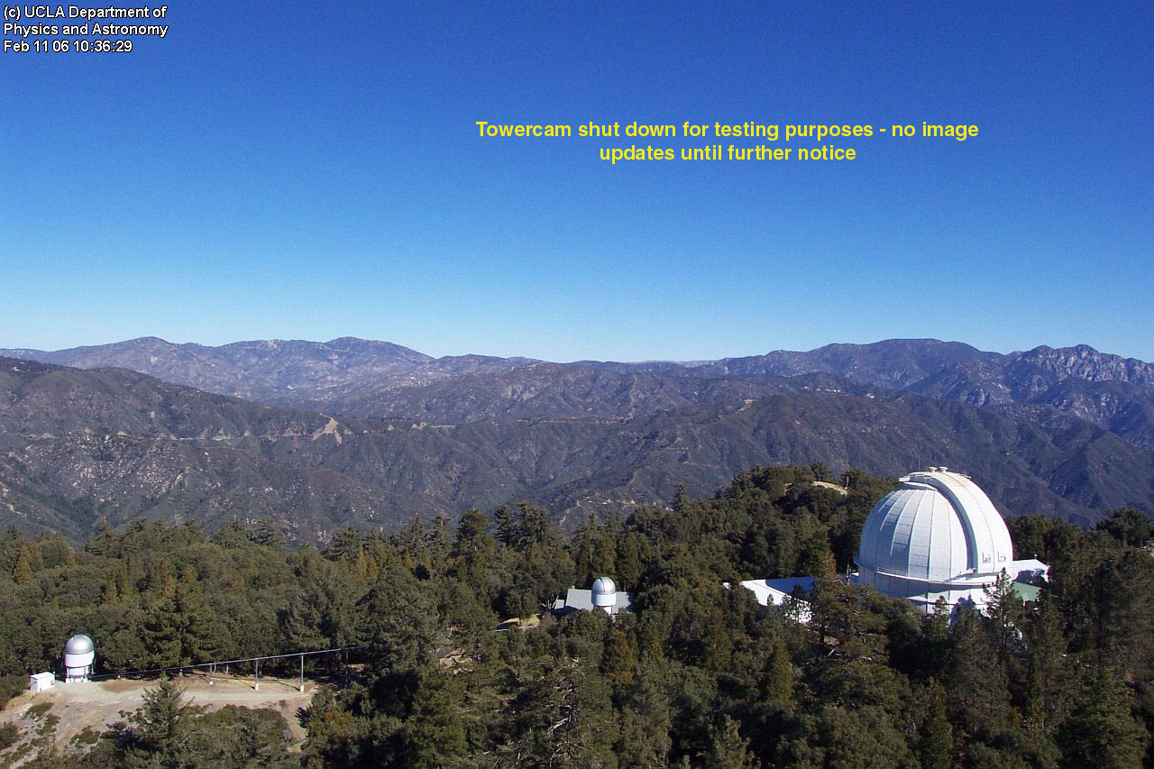 View from the Mt Wilson SolarCam