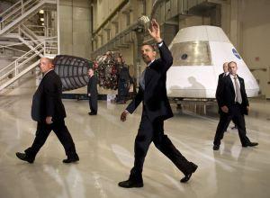 Obama, poco después de cepillarse el proyecto Constelación.