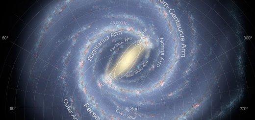 Concepto artístico de la Vía Láctea