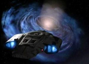 Un agujero de gusano en Star Trek
