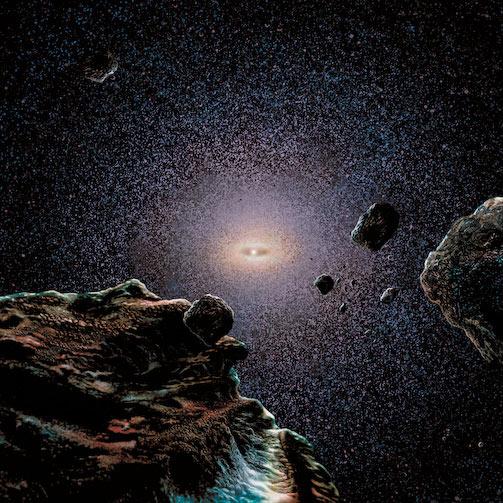 Recreación artística de la Nube de Oort.