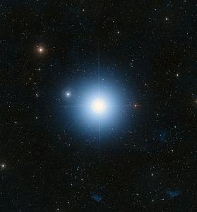 La estrella Fomalhaut. Crédito: Davide de Martin