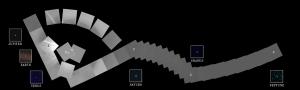 """El """"retrato de familia"""" del Sistema Solar hecho por la sonda Voyager 1. Esta imagen consiste de 60 imágenes tomadas por las cámaras de Gran y Pequeño ángulo utilizando los filtros de Metano, Violeta, Azul, Verde y Limpio."""