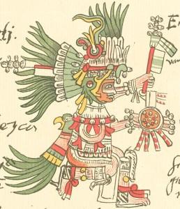 Huitzilopochtli, tal y como aparece en el códice Telleriano-Remensis