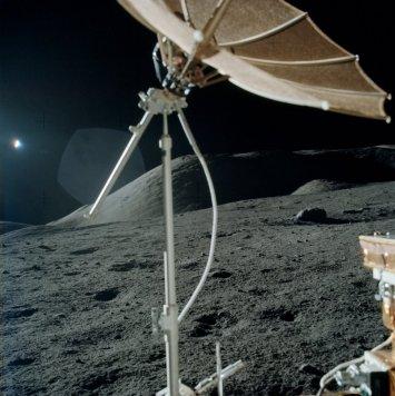 Imagen de la superficie lunar, tomada durante la misión Apolo 17. Crédito: NASA