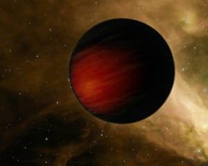 Concepto artístico de HD 114762 b. Crédito: NASA/JPL-Caltech
