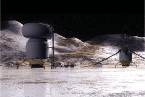 Concepto artístico de una base en la superficie de Calisto. Crédito: NASA