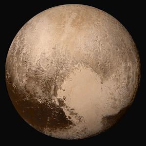 Imagen, en color casi real, de Plutón. Crédito: NASA / Johns Hopkins University Applied Physics Laboratory / Southwest Research Institute