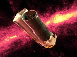 Concepto artístico del telescopio espacial Spitzer. Crédito: NASA/JPL-Caltech