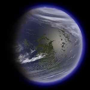 Si la terraformásemos, es posible que la Luna tuviese un aspecto similar a éste. Crédito: Daein Ballard
