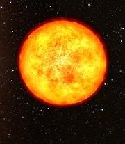 Concepto artístico de HE 1523-0901. Está entre las estrellas más antiguas conocidas de la galaxia. Es una gigante roja con 13.200 millones de años. Crédito: ESO, European Southern Observatory