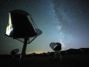 El radiotelescopio Allen. Crédito: Seth Shostak, SETI Institute