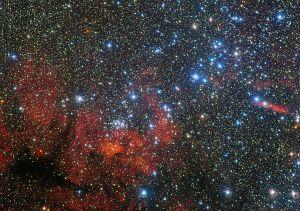 Otro cúmulo abierto muy colorido: NGC 3590. Crédito: ESO/G. Beccari