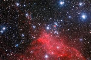 El cúmulo abierto NGC 3572 y la región que lo rodea. Crédito: ESO/G. Beccari