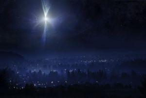 Una imagen artística de la estrella de Belén (o algo parecido, por el paisaje, más que nada...)