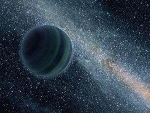 Recreación artística de un planeta interestelar. Crédito: NASA/JPL-Caltech