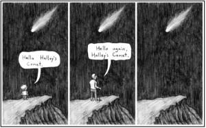 Tira cómica del Cometa Halley.