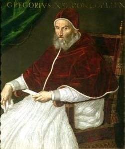 El papa Gregorio XIII. Autor: Lavinia Fontana