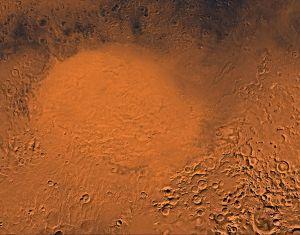 La Hellas Planitia, fotografiada por las sondas Viking. Crédito: NASA/JPL/USGS
