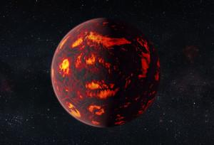 Concepto artístico de 55 Cancri e. Crédito: ESA/Hubble, M. Kornmesser