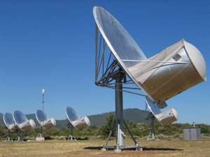 Algunas de las antenas del telescopio Allen en California. Crédito: SETI